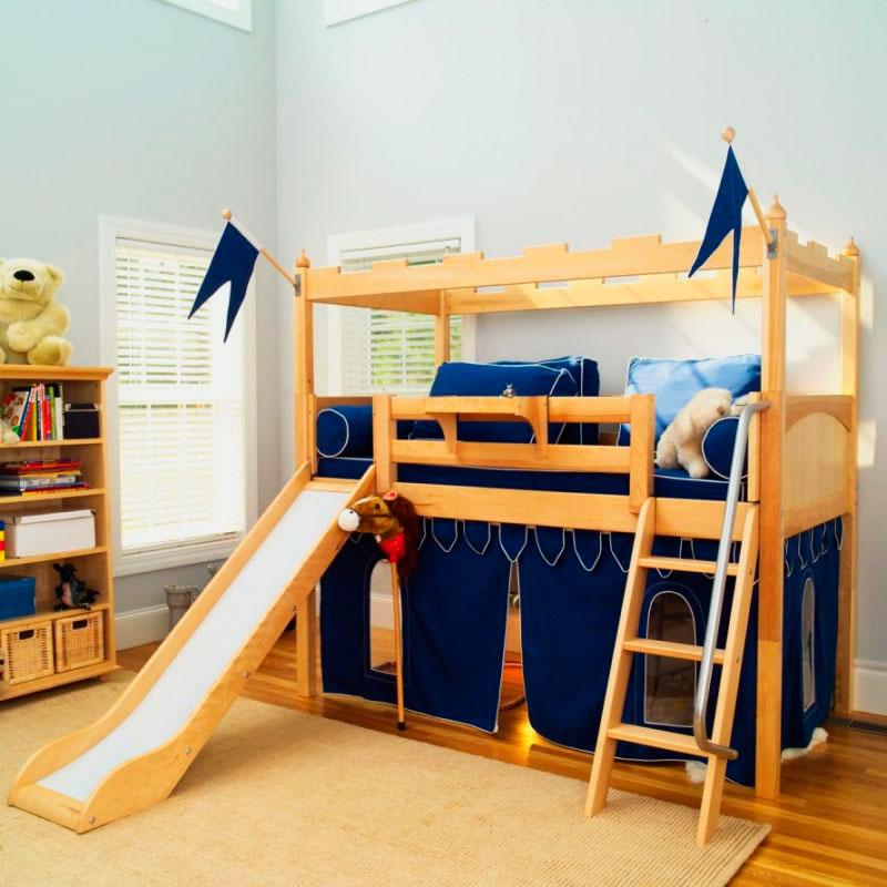 Детская кровать с горкой (23)