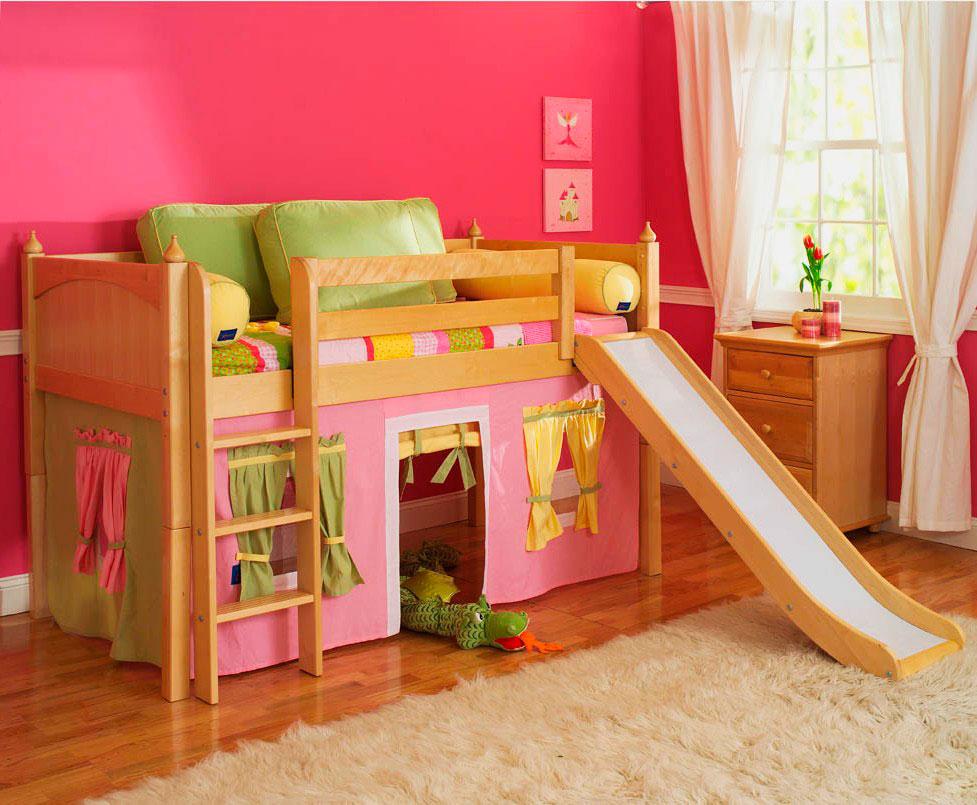 Детская кровать с горкой (25)