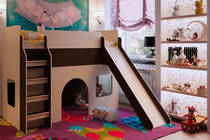 Детская кровать с горкой (3)