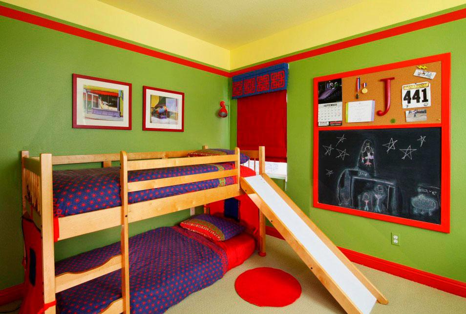 Детская кровать с горкой (41)