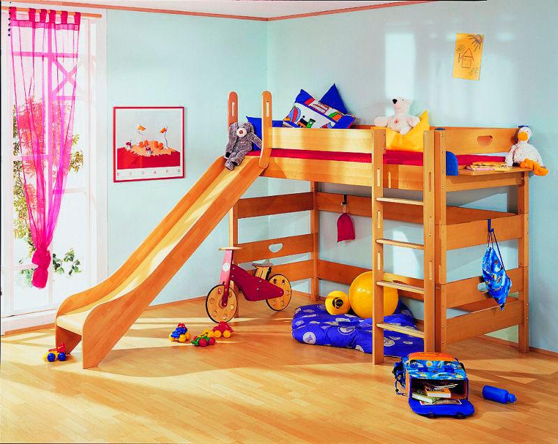 Детская кровать с горкой (42)