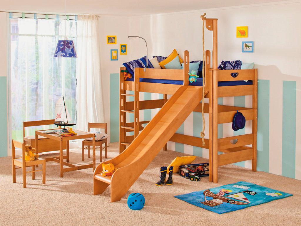 Детская кровать с горкой (43)