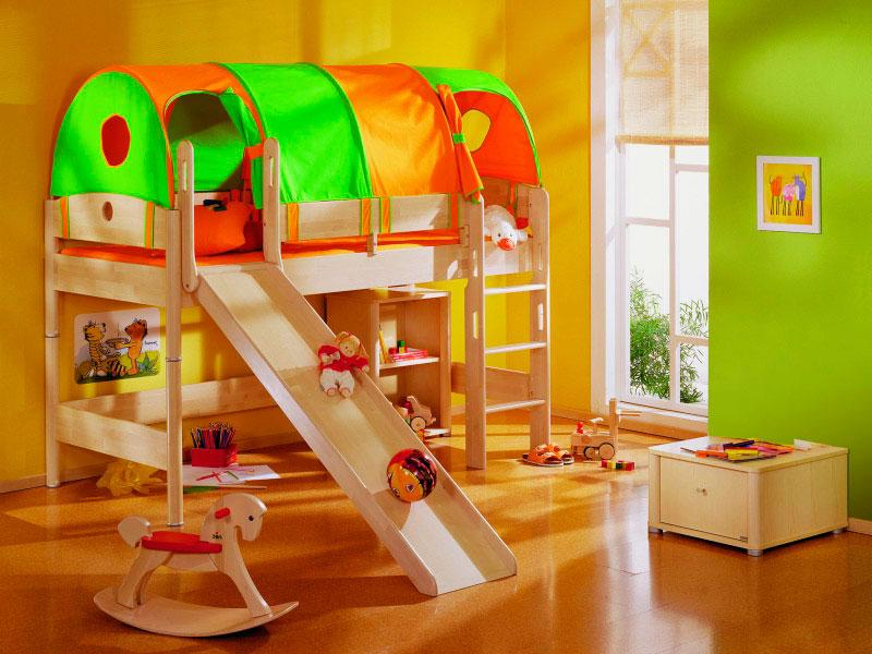 Детская кровать с горкой (45)