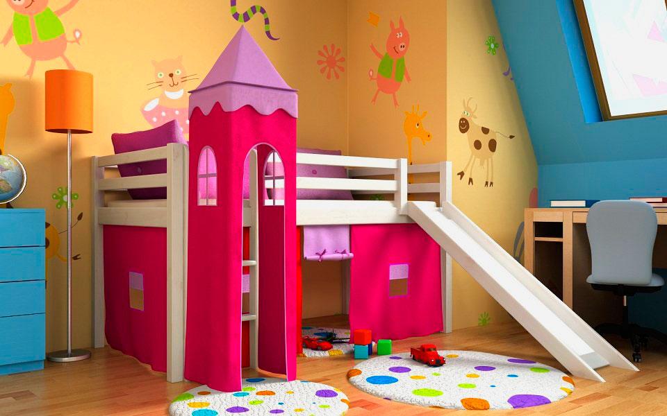 Детская кровать с горкой (6)