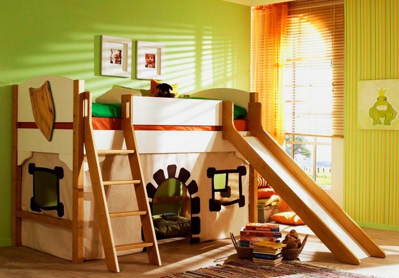Детская кровать с горкой (9)