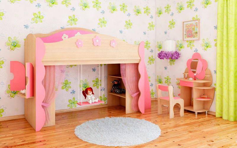 Детская кровать с игровой зоной (12)