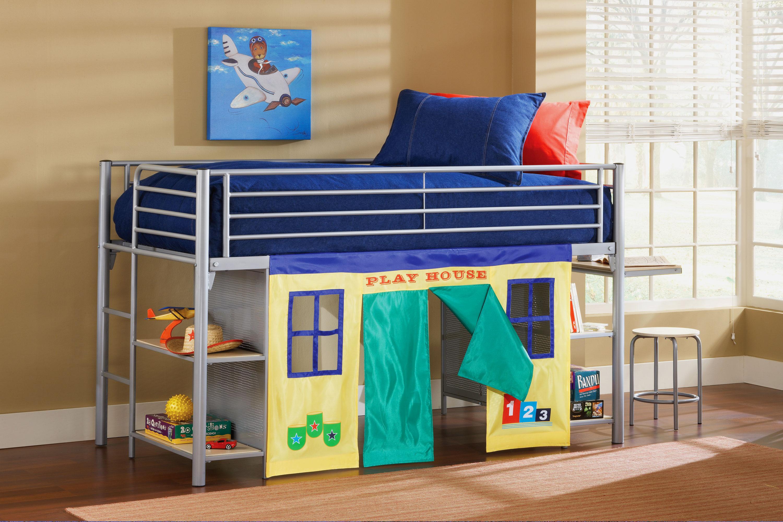 Детская кровать с игровой зоной (16)
