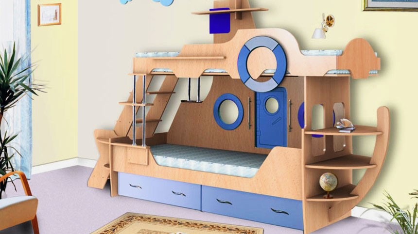 Детская кровать с игровой зоной (17)