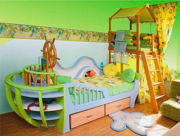 Детская кровать с игровой зоной (21)