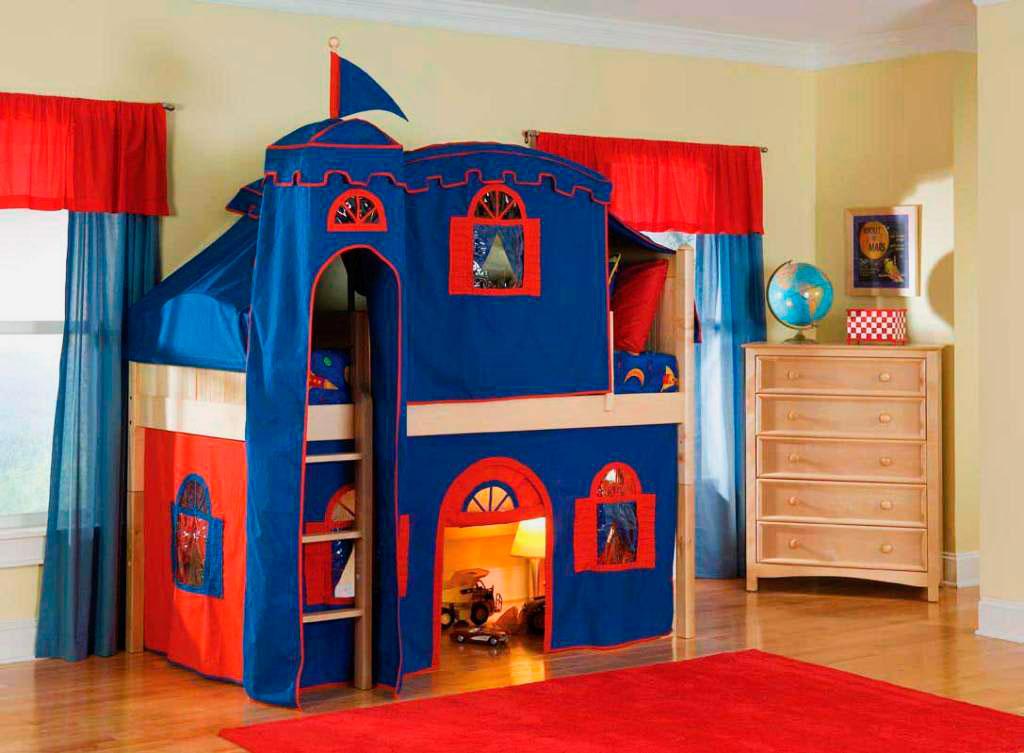 Детская кровать с игровой зоной (23)