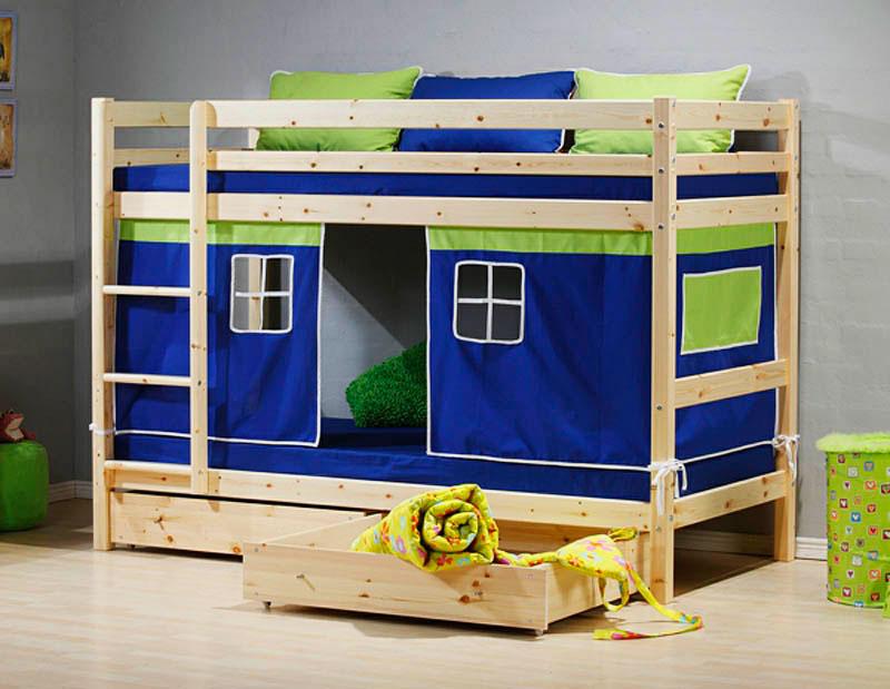 Фото детской кровати с домиков внизу