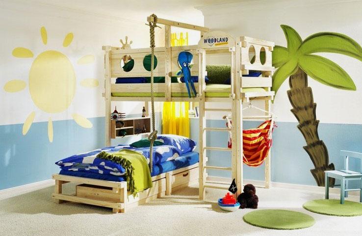 Детская кровать с игровой зоной (34)