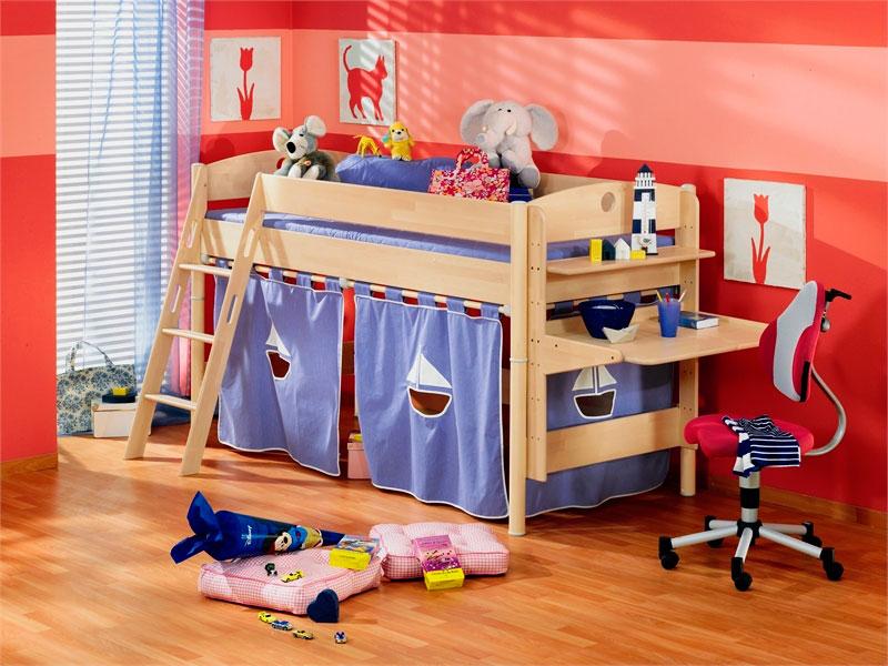 Детская кровать с игровой зоной (5)