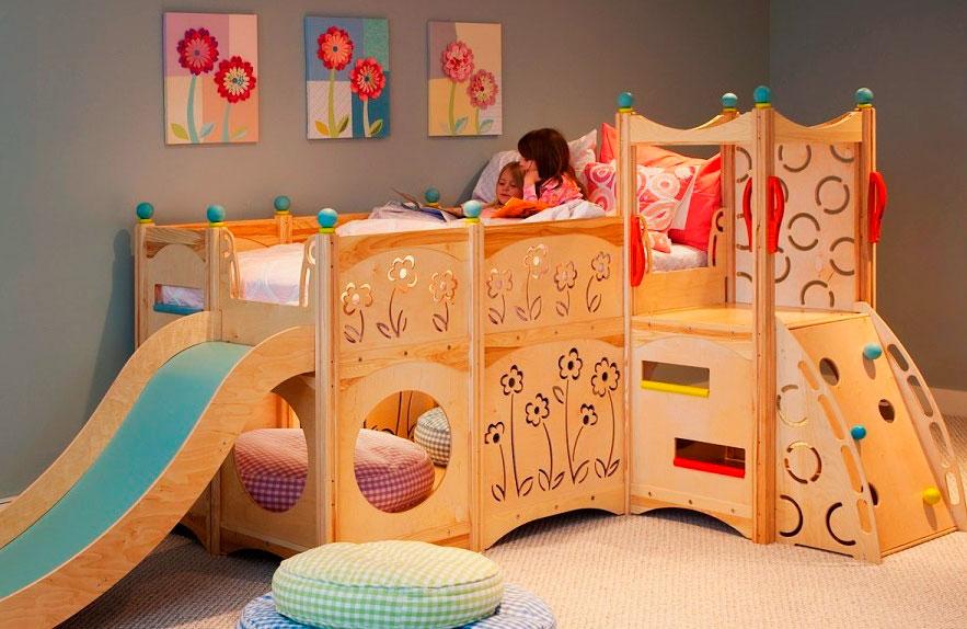 Детская кровать с игровой зоной (6)