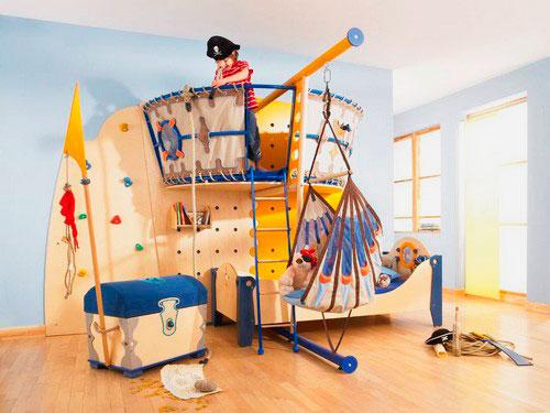 Детская кровать с игровой зоной (8)