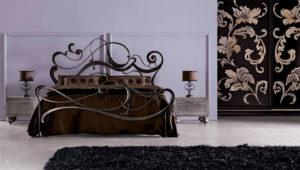 Фото кованной кровати в интерьере