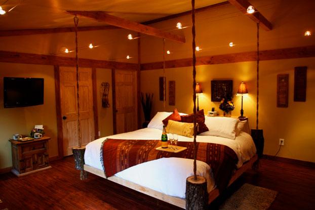 Потолочная подвесная кровать с четырьмя точками крепления