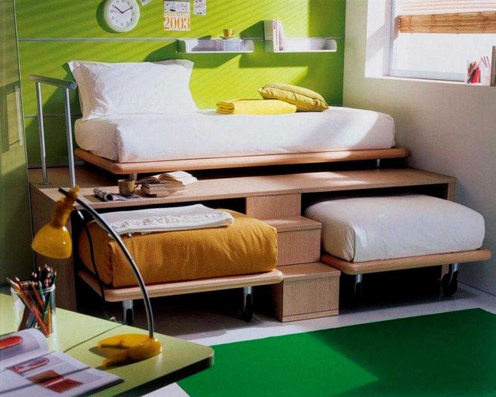 3 кровати в одной комнате