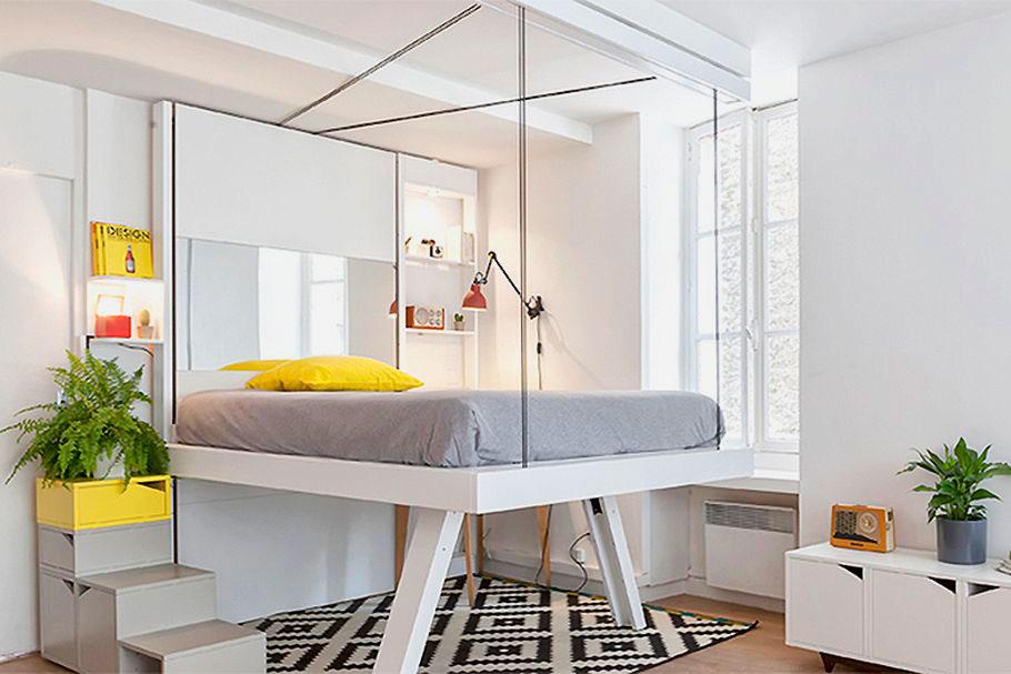 LiftBed кровать на ножках в интерьере