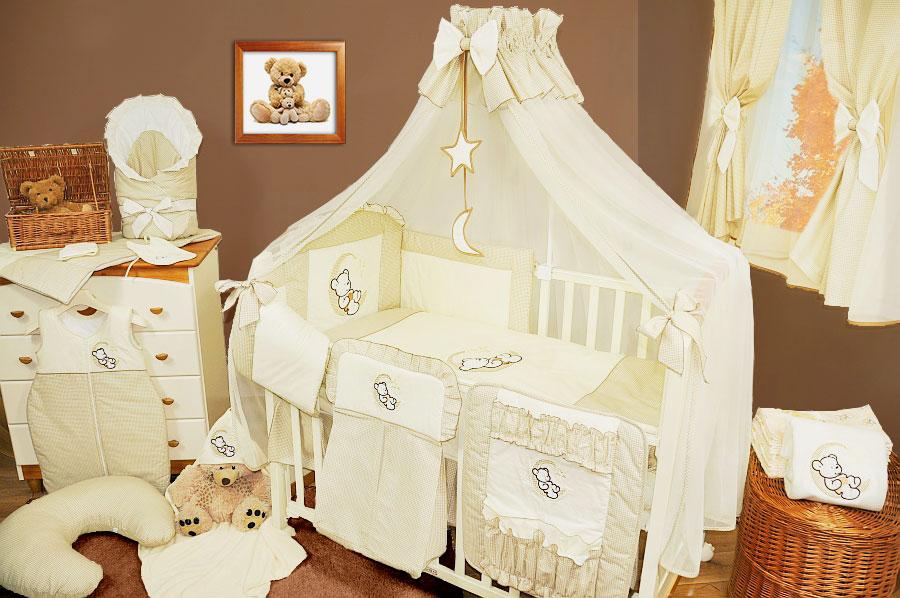 Кроватка новорожденного с балдахином