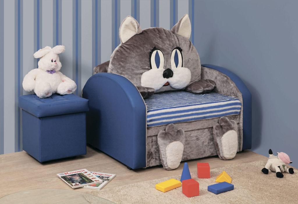 Раскладное детское кресло кот