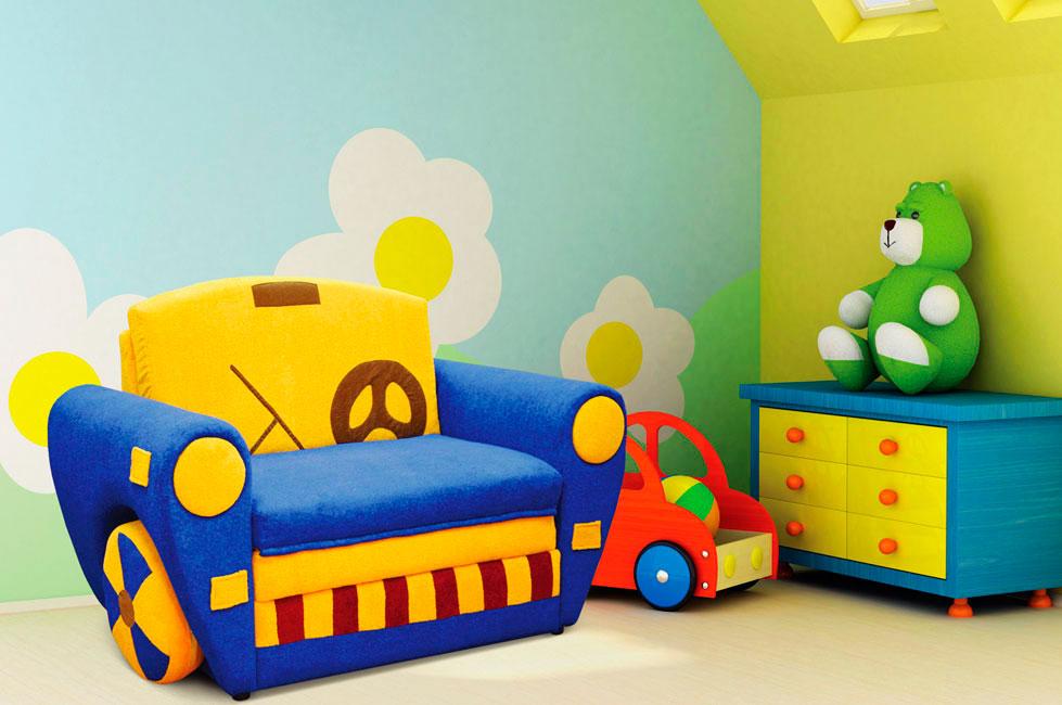 Фото детской комнаты с креслом кроватью