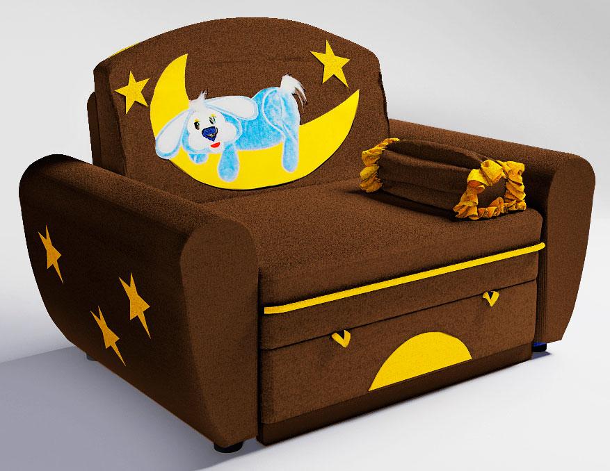 Детское раскладное кресло с мягкими подлокотниками
