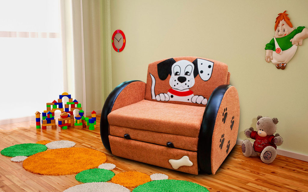 Раскладное кресло кровать с долматинцем