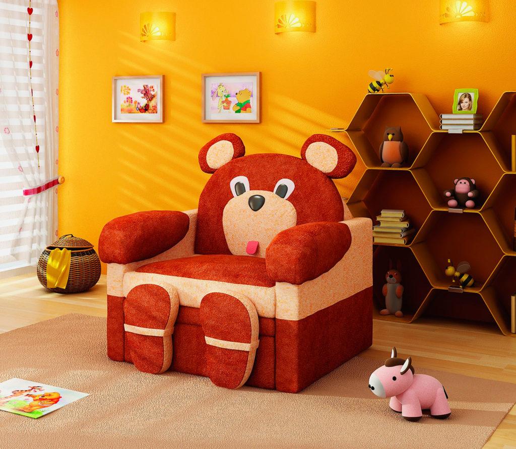 Детское кресло Медведь с раскладным механизмом