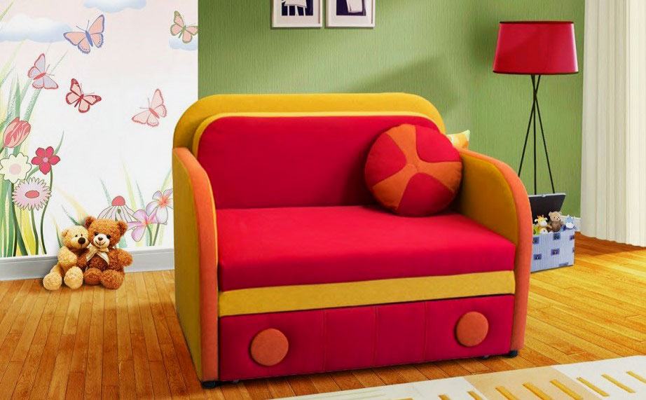 Детское кресло кровать в интерьере комнаты