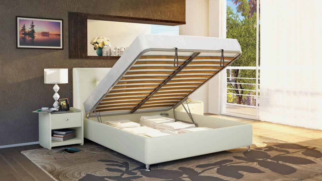 Двуспальная кровать с подъёмным основанием