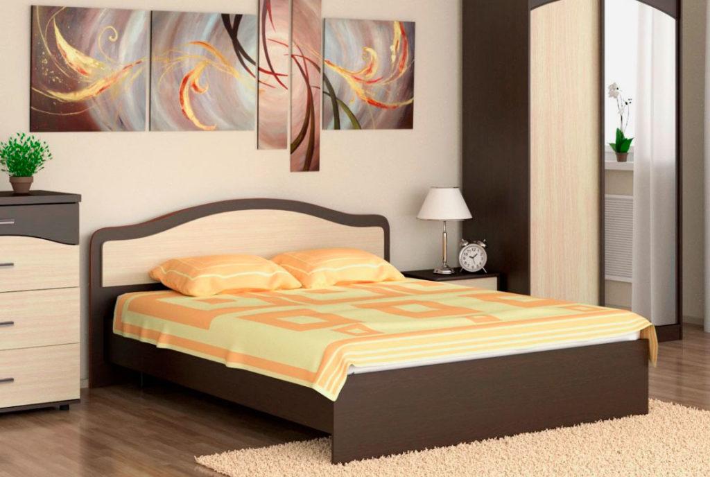 Двуспальная кровать из ДСП