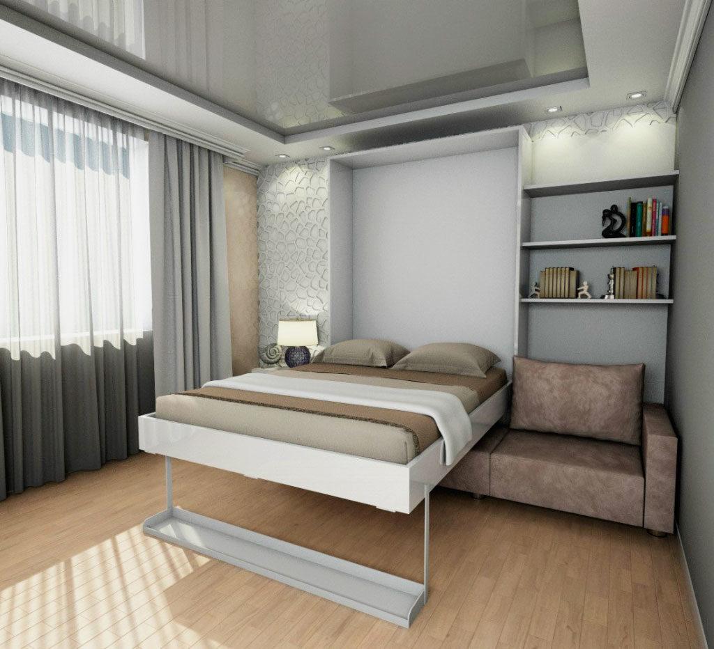 Двуспальная шкаф кровать трансформер в малогабаритной квартире