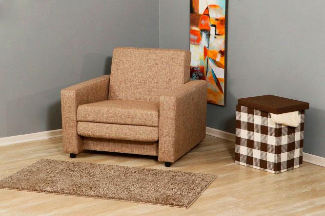 Раскладное кресло-кровать со спальным местом в тканевой обивке
