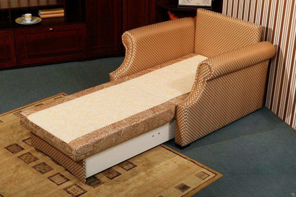 Кресло с механизмом трансформации в кровать с бельевым ящиком
