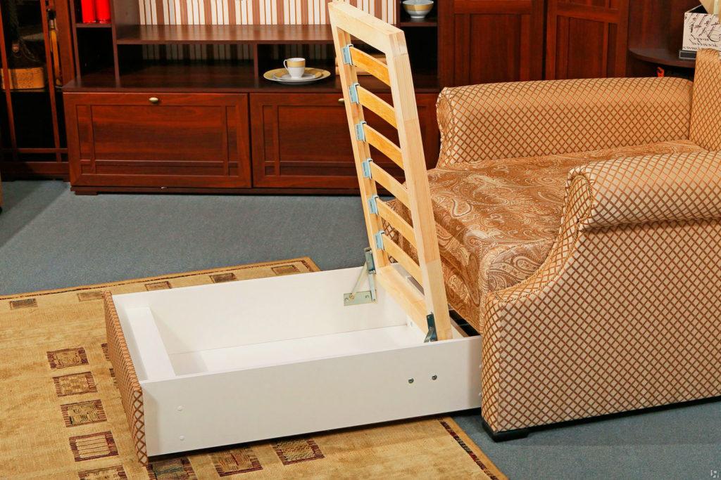 Кресло-кровать с ортопедическим основанием и бельевым ящиком