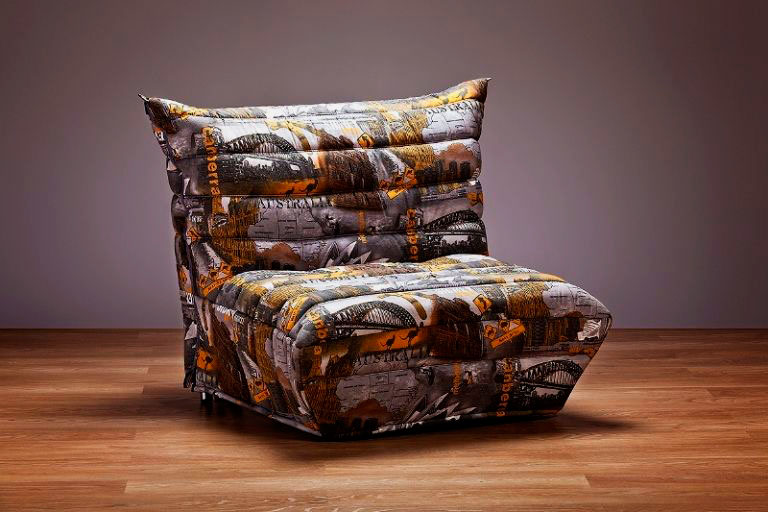 Фото кресла в тканевом чехле