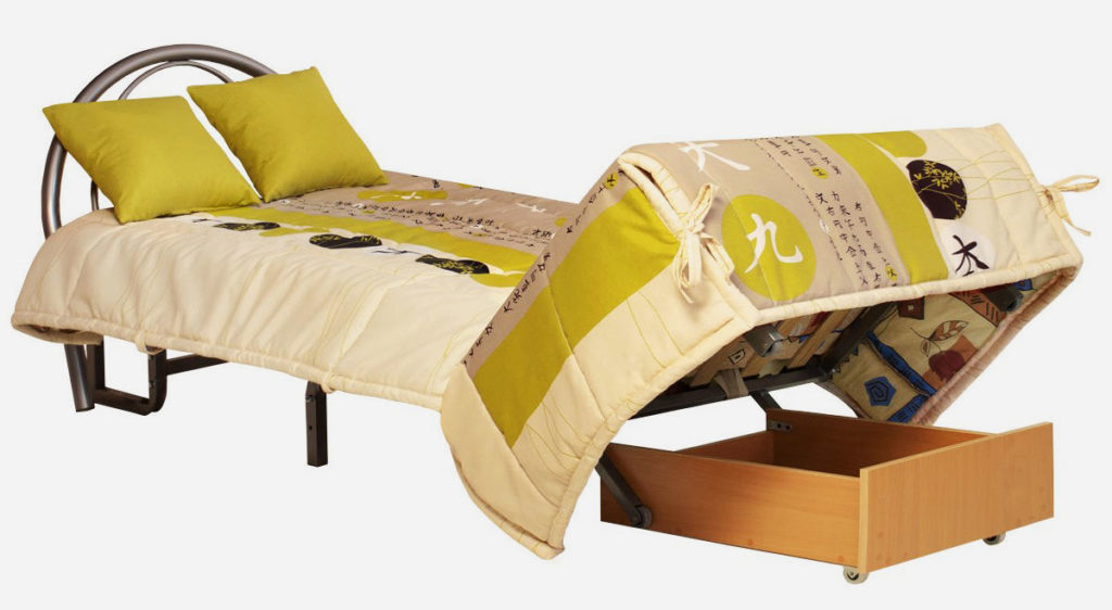 Кресло-кровать с металлическим каркасом и ортопедическим матрасом