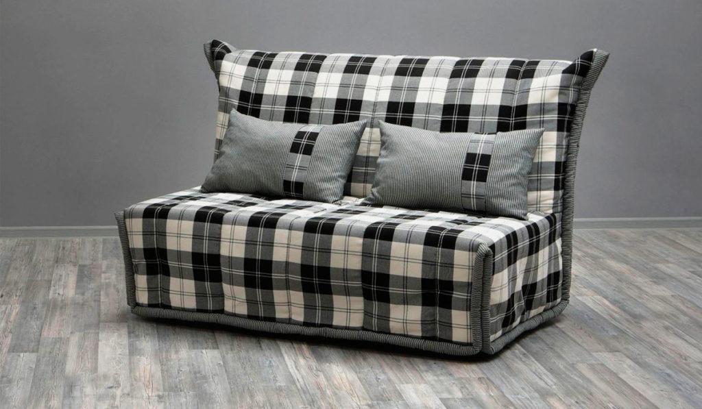 Широкое ортопедическое кресло кровать без подлокотников в тканевом чехле