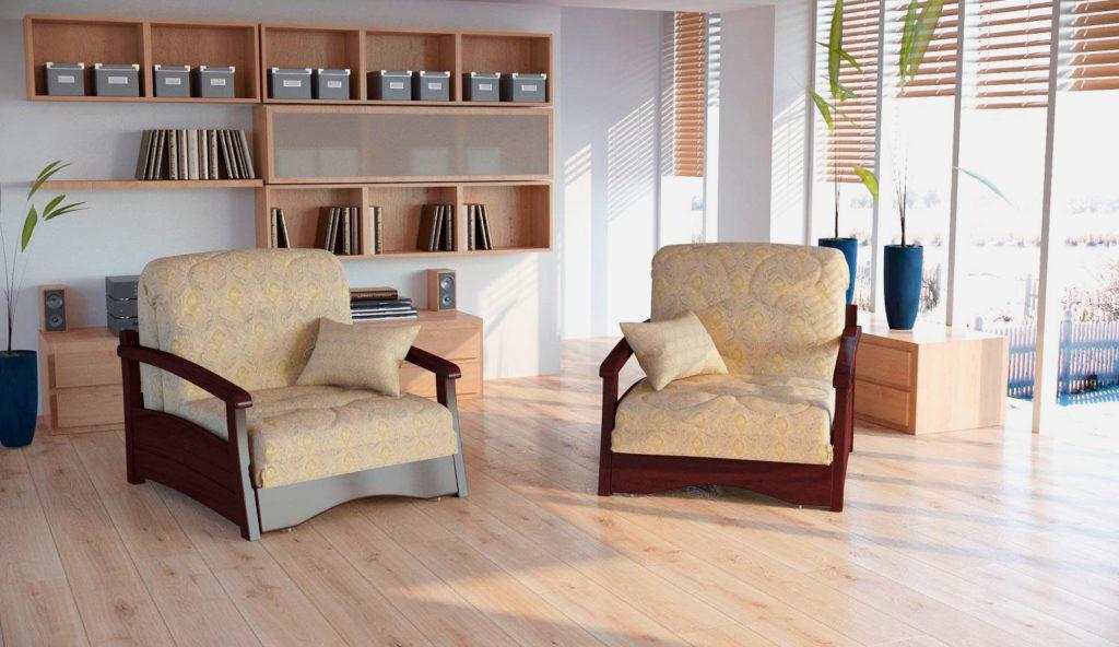 Ортопедические раскладные кресла в тканевых чехлах