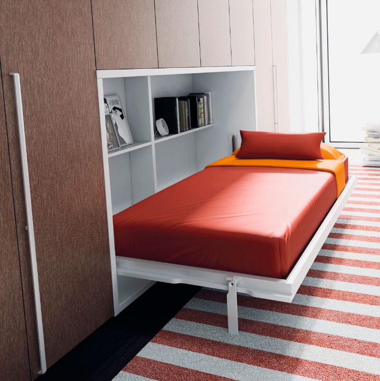 Кровать комод трансформер встроенная в стену