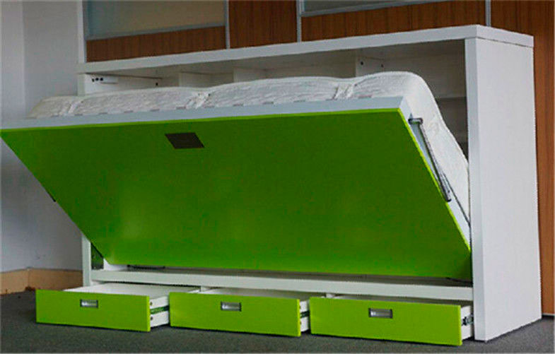 Фото горизонтальной откидной шкаф-кровати