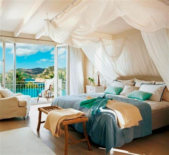 Фото балдахина над кроватью из прозрачной легкой ткани