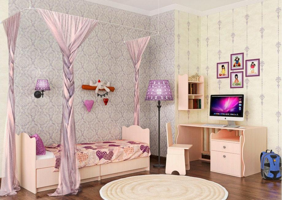 Фото трансформируемого комплекта детской мебели