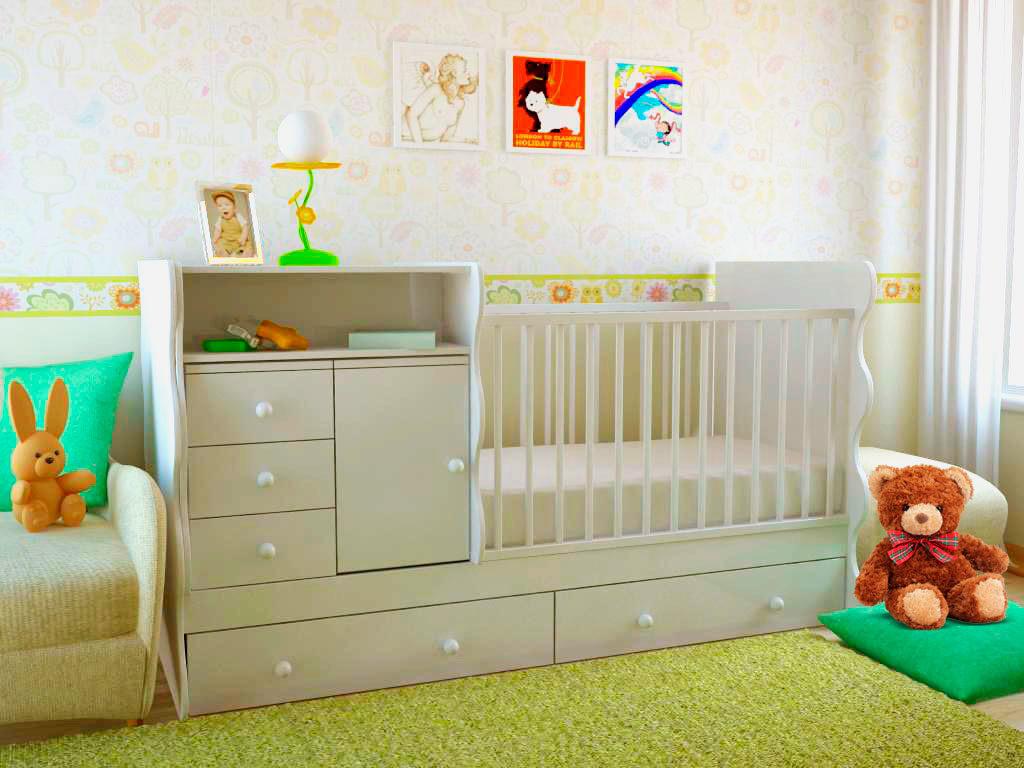 Детская трансформируемая кровать в интерьере комнаты