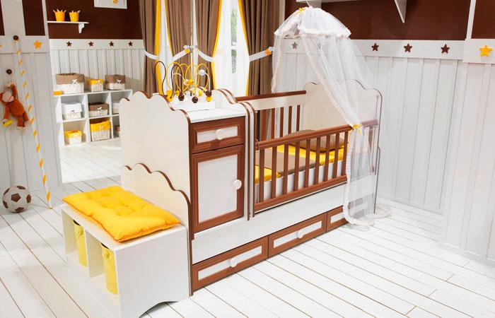 Фото детской трансформируемой кроватки для новорожденных