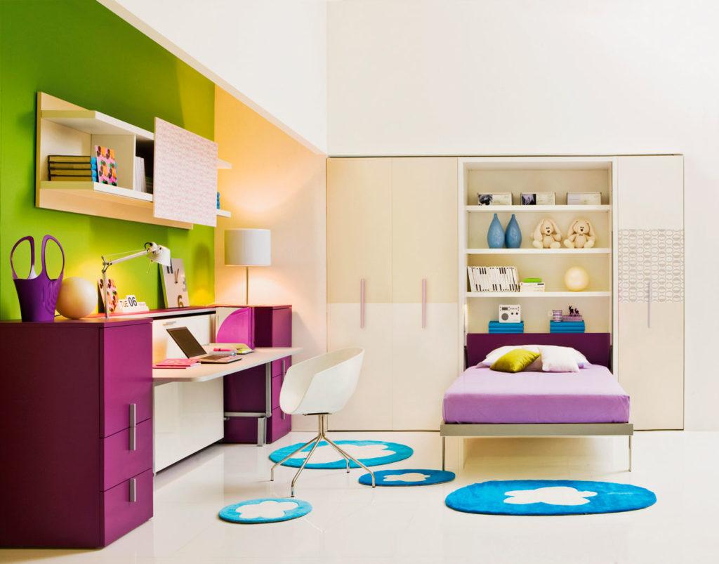 Фото комнаты подростка с кроватью трансформером