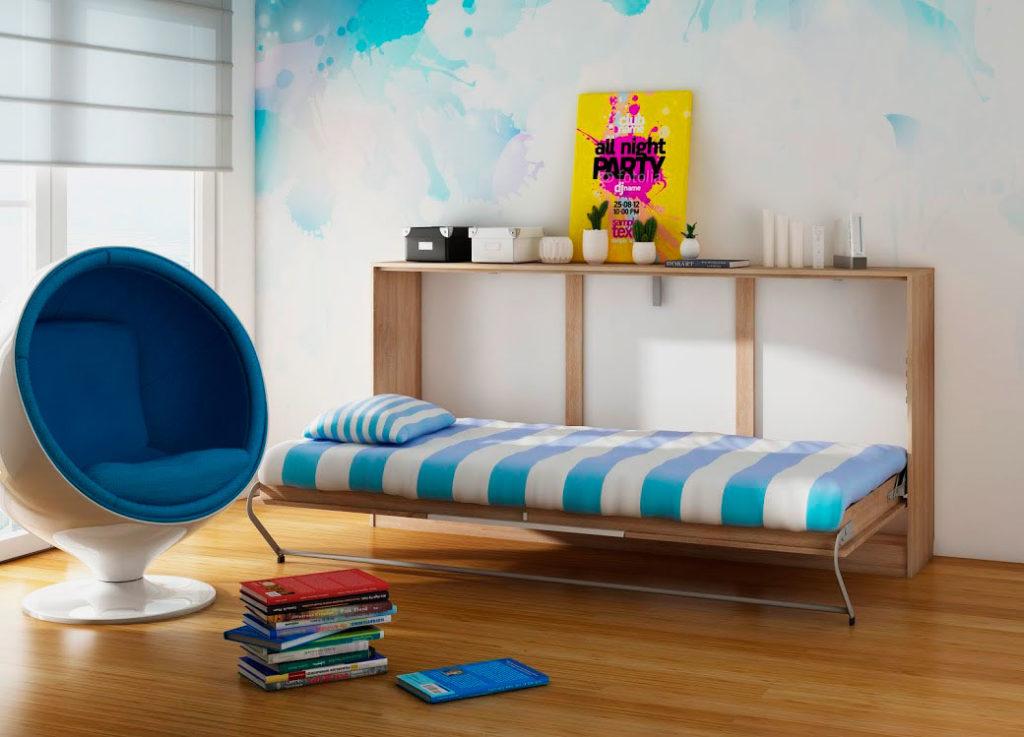 Кровать трансформер в интерьере комнаты подростка