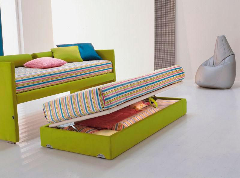 Фото выдвижной кровати для двоих детей