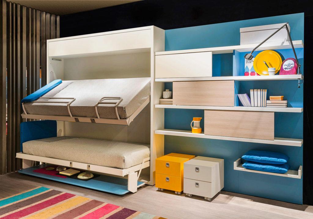 Двухъярусная шкаф-кровать для подростков